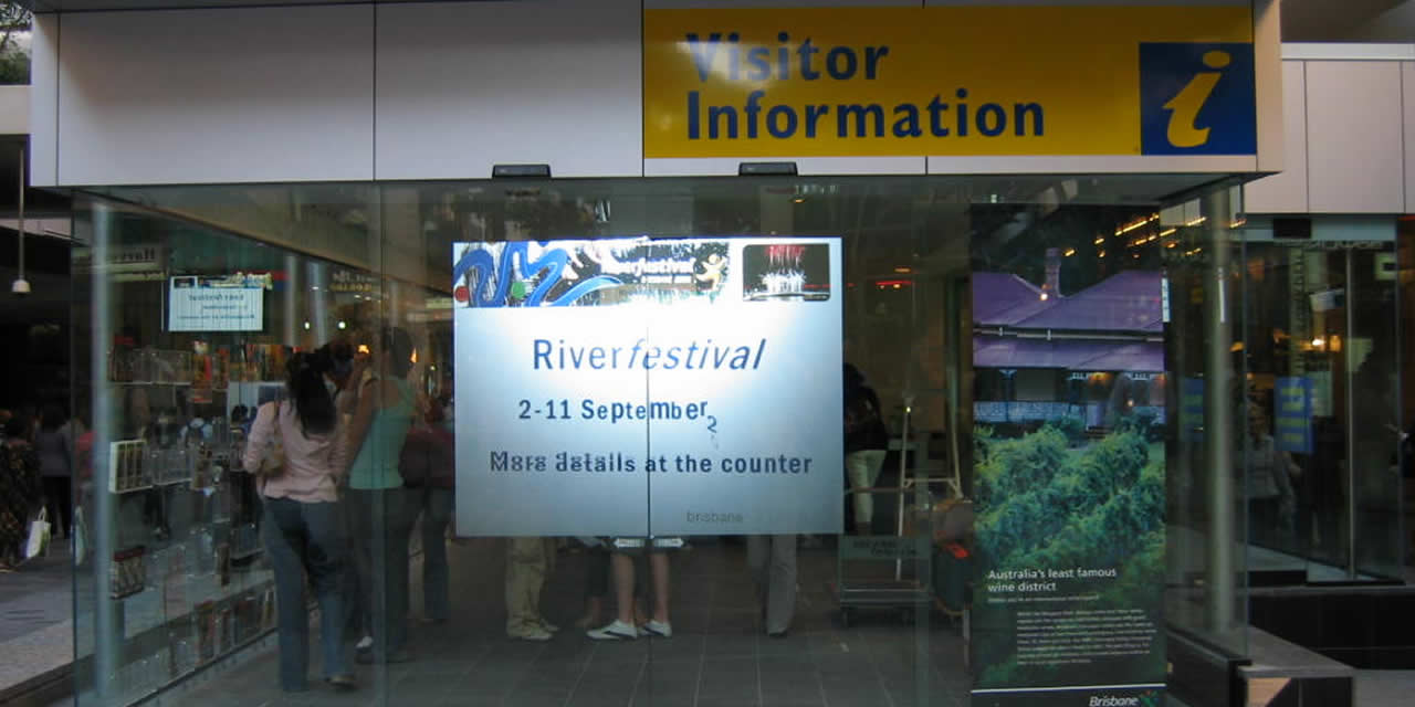 Projection Film - TransVu - Brisbane Visitor Information Centre